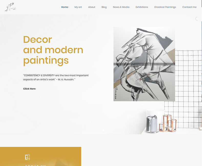 painting website developer