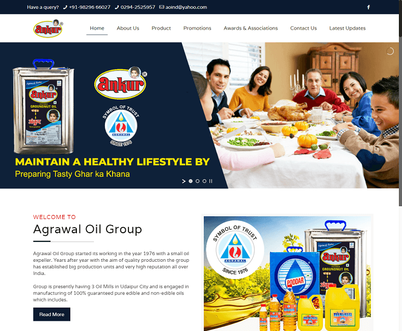 cooking oilwebsite developer